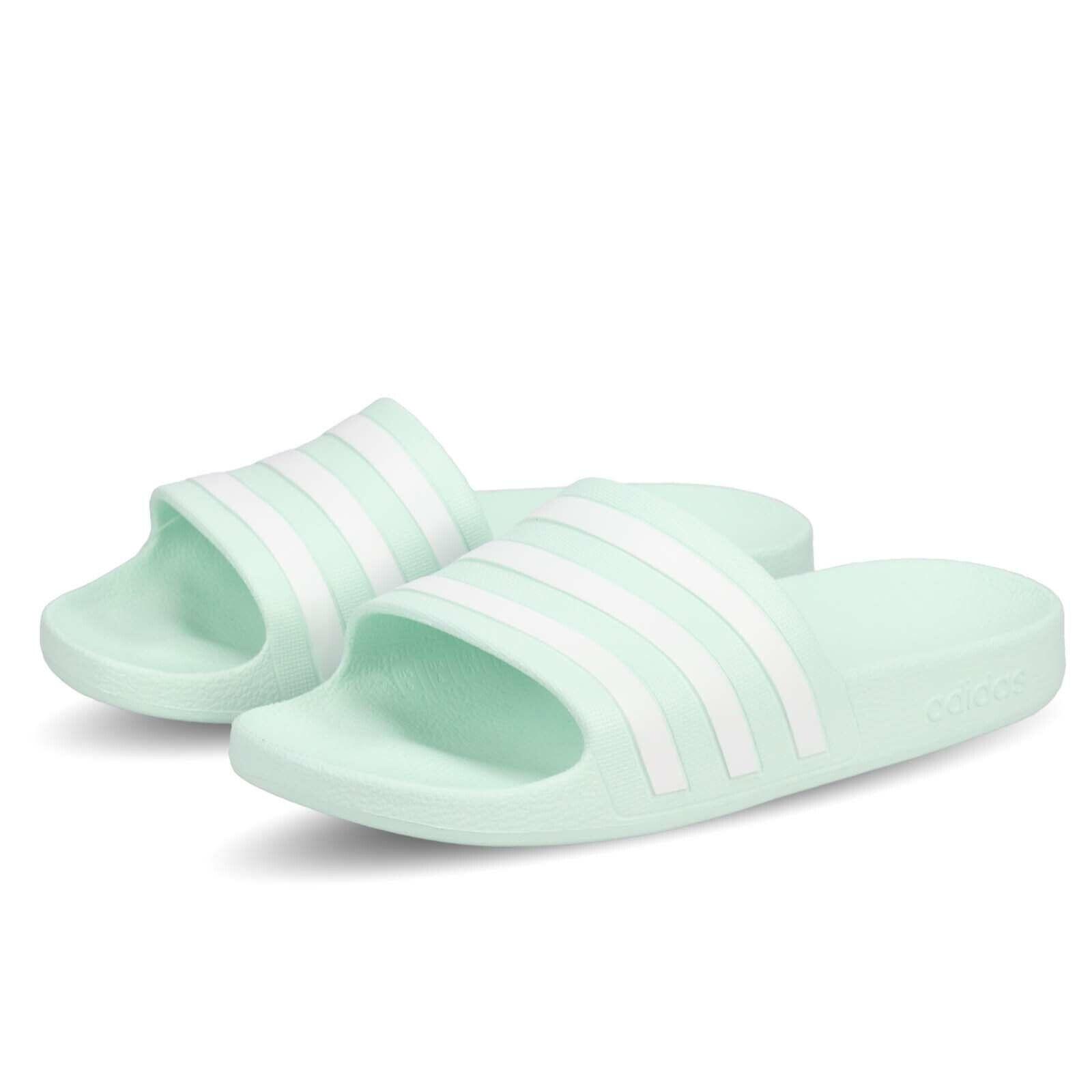 Adidas Adilette Aqua Mint Green White Mens Womens Sandal Slipper Slide F35535