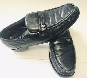 Florsheim-Shoes-Men-s-Black-Leather-Slip-On-Comfortech-Loafers-Size-12D-12