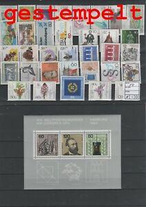 Germany-Federal-Frg-vintage-yearset-1984-Postmarked-Used-complete