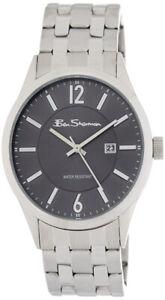 Ben-Sherman-Montre-Homme-Acier-Inoxydable-Gris-Cadran-Date-Quartz-BS103