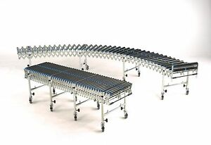 Details about Flexible Conveyor Gravity Roller, 3M long extended 400mm wide  PVC Rollers