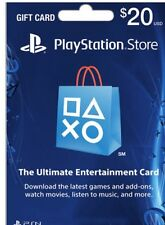$20 Playstation Store Card PSN  PS3/ PS4/ PS Vita  sony Paper Mailed