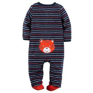 New Carter's Boys Sleep N Play Terry Tiger Face Rear & Feet NWT Newborn 3m 6m