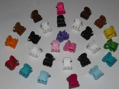 x12 Assorted Mini Small Plastic Hair Clips Claws Clamps Hair Accessories Flowers