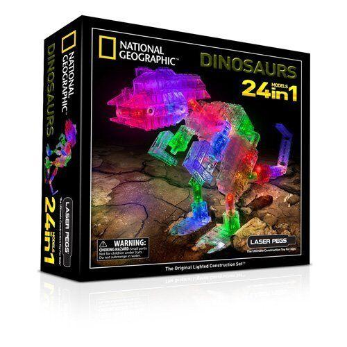 Clavijas de láser 24 en 1 National Geographic Niños Dinosaurio Construcción Building Set