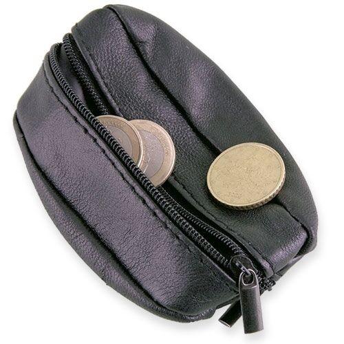 Geldbörse Pelz Schlüsselanhänger Handtasche für Schlüssel mit 2 Reißverschlüsse