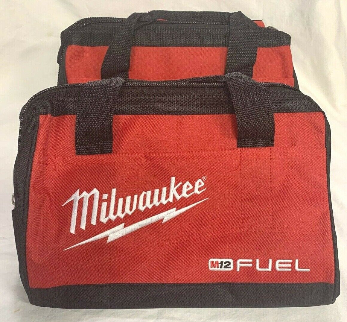 """(2) Milwaukee FUEL 13"""" x 9"""" x 9"""" Contractor Tool Bags (From Kit)"""