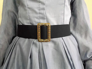 fabric-BELT-CIVIL-WAR-LADY-REENACTOR-DRESS-VICTORIAN-WOMEN-CLOTHING-SZ-SMALL-XL