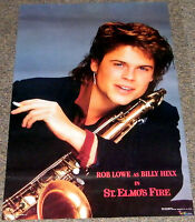 ST. ELMO'S FIRE 1985 ORIGINAL NM 22x34 ROB LOWE SMOKING CIGARETTE PINUP POSTER!