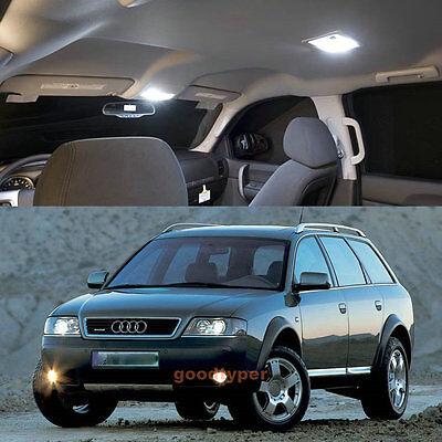 9 pcs White lighting LED Light Interior Package Lamp Kit For Audi Allroad C5