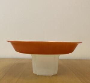 "Pyrex Flamingo Pink Pie Plate Pan 209 Glass Dish White 8.5 Inch 8 1/2"" Vintage"