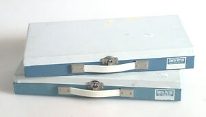 SLIDE STORAGE BOXES SET OF 2 HOLDS 150 EACH