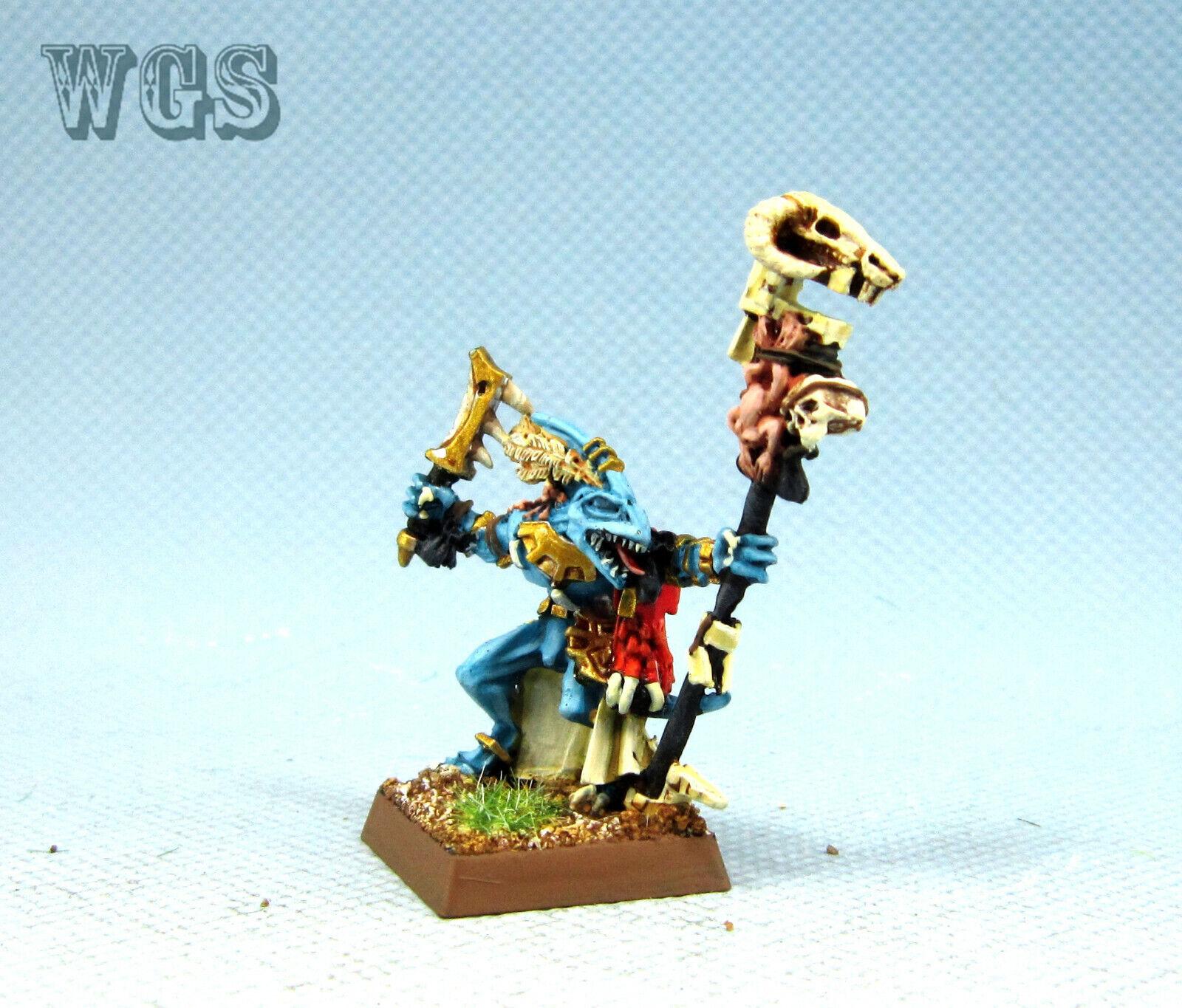 25mm Warhammer WGS Painted Lizardmen Skink Priest LZ003