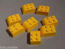 Lego 8 briques arrondies jaunes set 4137 4163 7715 5885 / 8 yellow brick curved