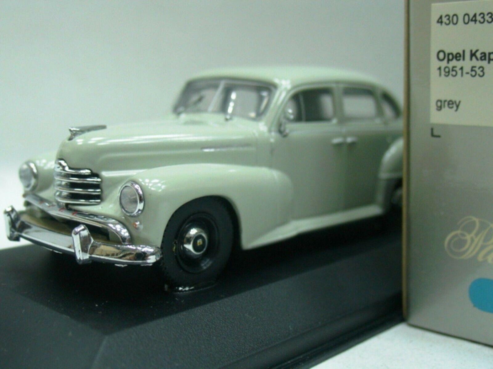 WOW EXTREMELY RARE Opel Kapitän 1951 1951 1951 Sedan 2.5L I6 L Grey 1 43 Minichamps-Rekord 07b46b