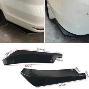 2x-Universal-Car-Rear-Bumper-Lip-Splitter-Diffuser-Chin-Spoiler-Canard-Deflec-OZ