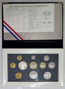 0045 - Coffret Be - Francs - 1994 - 1 Centime à 100 Francs - Rare