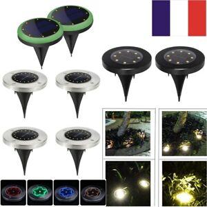 8-50-LED-energie-solaire-enterree-lumiere-sous-le-sol-lampe-de-jardin-terrasse