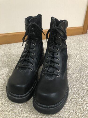 Harley Davidson Mens Black Boots Side Zipper Size