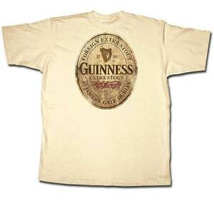 Guinness-Wooden-Label-Beer-CREAM-Adult-T-shirt