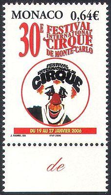 Monaco 2005 Circus/Festival/Clowns/People/Entertainment/Animation 1v (n36400)