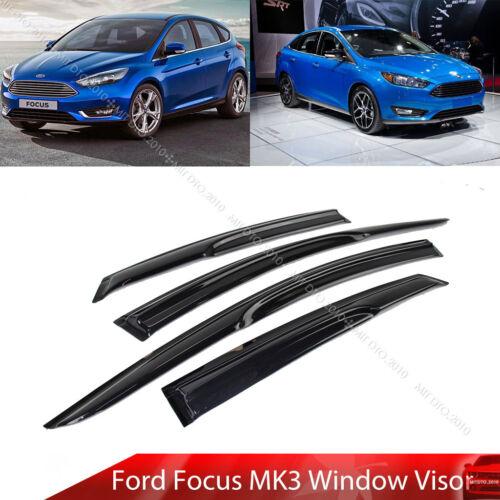 Window Visor Sun Rain Guard Ford Focus 4D Sedan 5D Hatchback  Mugen Type 11-18