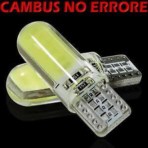10-Lampade-Led-T10-Bianco-Canbus-Gel-Silica-SMD-COB-12-chips-Silicone-12V-VStore