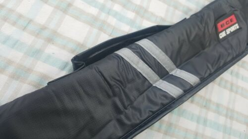 80cm Long Handle zip = new BCE Black STRIPED Padded Soft 2pc Snooker Cue Case