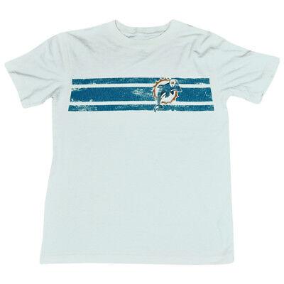 Initiative Nfl Miami Dolphins Flossen Vintage Logo Streifen Trüb Jugendliche T-shirt Dk2502 Rohstoffe Sind Ohne EinschräNkung VerfüGbar Baseball & Softball
