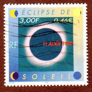 TIMBRE-FRANCE-1999-ECLIPSE-DU-SOLEIL-11-AOUT-1999-oblitere
