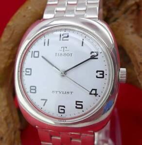 Seltene-original-Tissot-Stylist-Herrenuhr-in-835-Silber-Vintage-Sammler