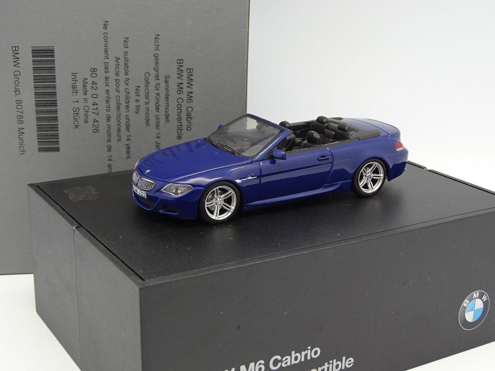 Minichamps 1 43 - BMW BMW BMW M6 Cabrio blue 42cb37