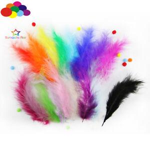 100-Pcs-Fantaisie-MACARONS-couleurs-Turquie-plumes-bricolage-Fluff-Dream-Catcher-materiel