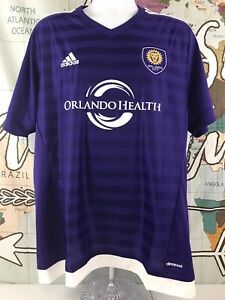 separation shoes 700a8 dfa37 Details about Adidas Climalite Authentic MLS Jersey Orlando City Soccer  Team Purple SIZE XL