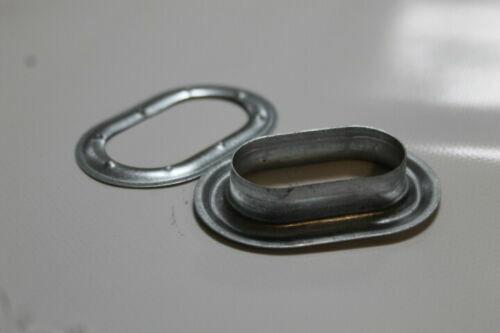 1 Pack = 30 unidades-galvanizado-din 7332 Ovalada ojales 42,0 x 22,0mm