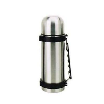 Isolierflasche Thermoflasche Thermoskanne Edelstahl Klickverschluss Gurt 1 Liter