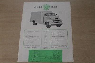 Ausdauernd 178994) Ford C 500 - Belgien - Prospekt 1956 Lange Lebensdauer