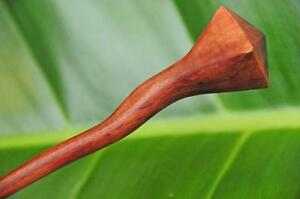Handmade carved wooden HAIR PIN STICK PICK Sono wood WAVY non slip design new
