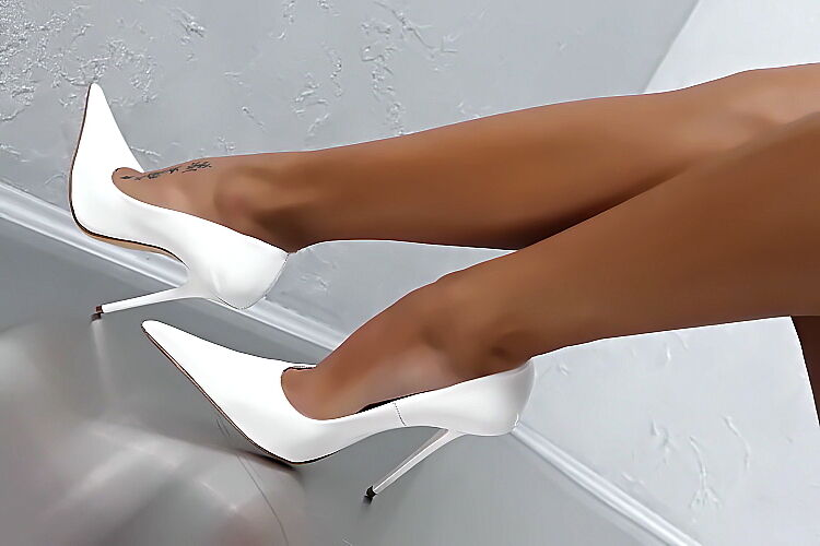 LEDER HOHE PUMPS white DAMEN TOP SCHUHE 1969 ITALY D66 BEST LEATHER HIGH HEELS 39