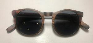 90acb2852f Image is loading Brand-new-beautiful-Shadetree-sunglasses -Hazelnut-ebony-wood-