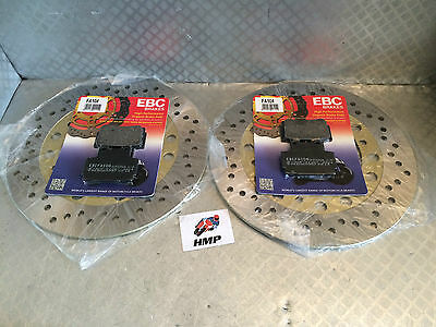 YAMAHA RD350 YPVS REPLACEMENT FRONT BRAKE DISCS & PADS NEW 1983 - 1989