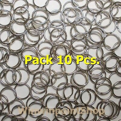 "Lot 10 50 100 Pc DIY 0.5"" 1/2"" Split Rings Keychain Key Ring Nickel Silver Color"