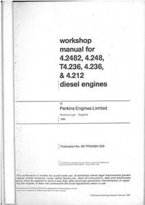 perkins engine a4 2482 at4 236 a4 236 a4 212 workshop manual ebay rh ebay com Perkins 4.236 Babes Perkins 4.236 Water Pump