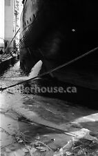 1968 Toronto, Ontario Harbor/Dry Docks in Winter Orig. B&W 35mm Film Negative #2