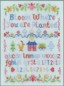 MINI Alfabeto campionatore-COMPLETO PUNTO CROCE KIT su 14 AIDA con cartella colori