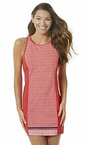 8a38d120757 Women's Tropical Escape Open Back Swim Dress Cover Up Red Size 8 NEW ...