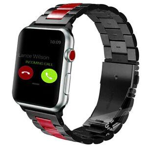 Us Apple Watch Series 5 4 3 2 1 38 44mm Classic Metal Stainless Belt Steel Bands Ebay