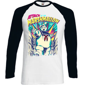 Ataque-de-la-Marshmallow-Man-Stay-Puft-Hombre-Divertido-Ghostbusters-Camiseta
