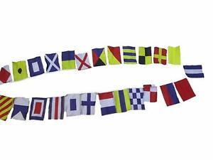 Nautische-Signalflagge-Schnur-von-26-von-A-bis-Z-11-Fuss-BAUMWOLLE-Boot
