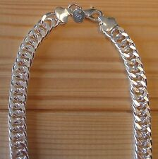 Man Silver 925 Sterling Chain Circle 10mm